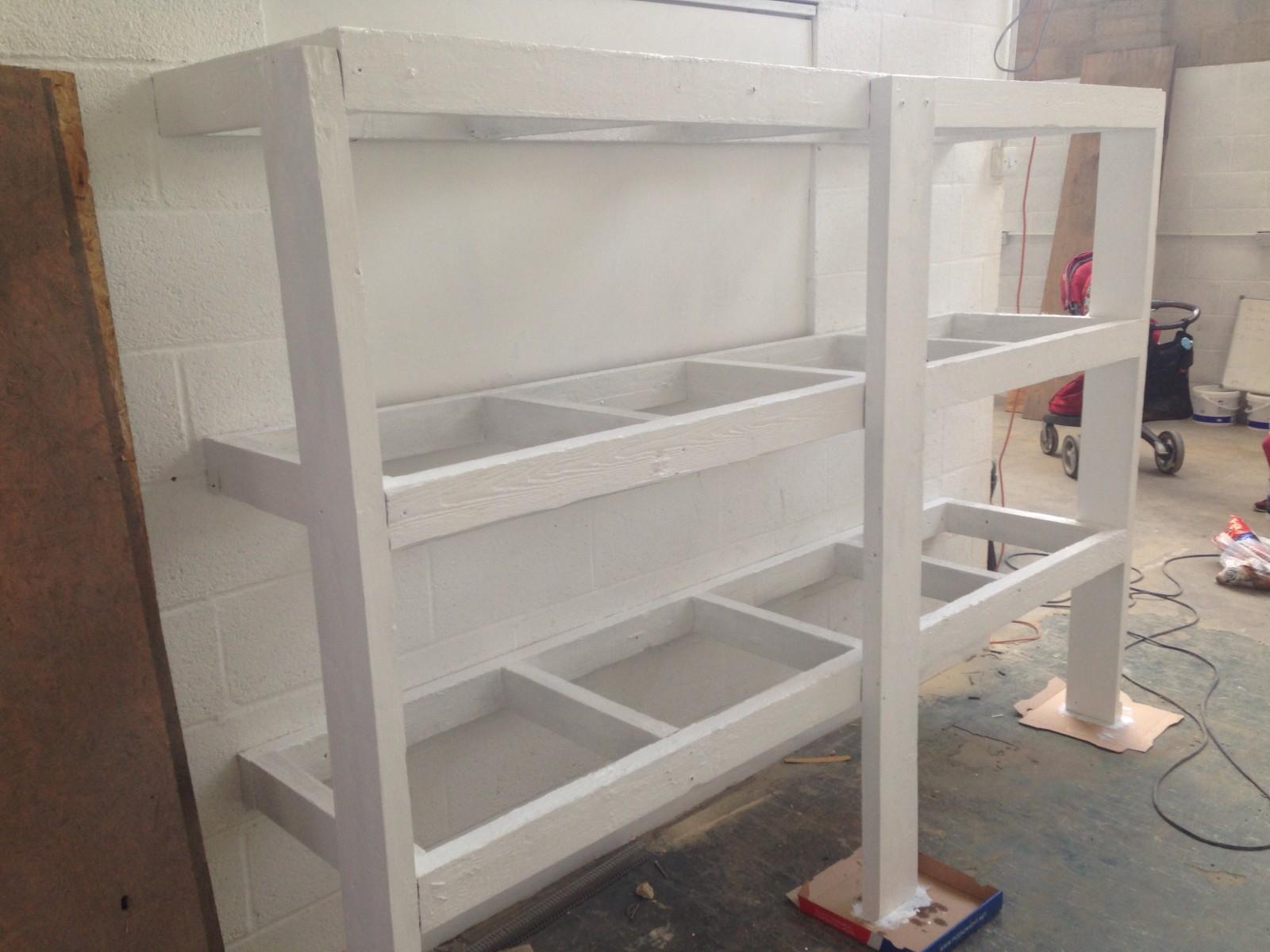 Storage rack - freshly painted