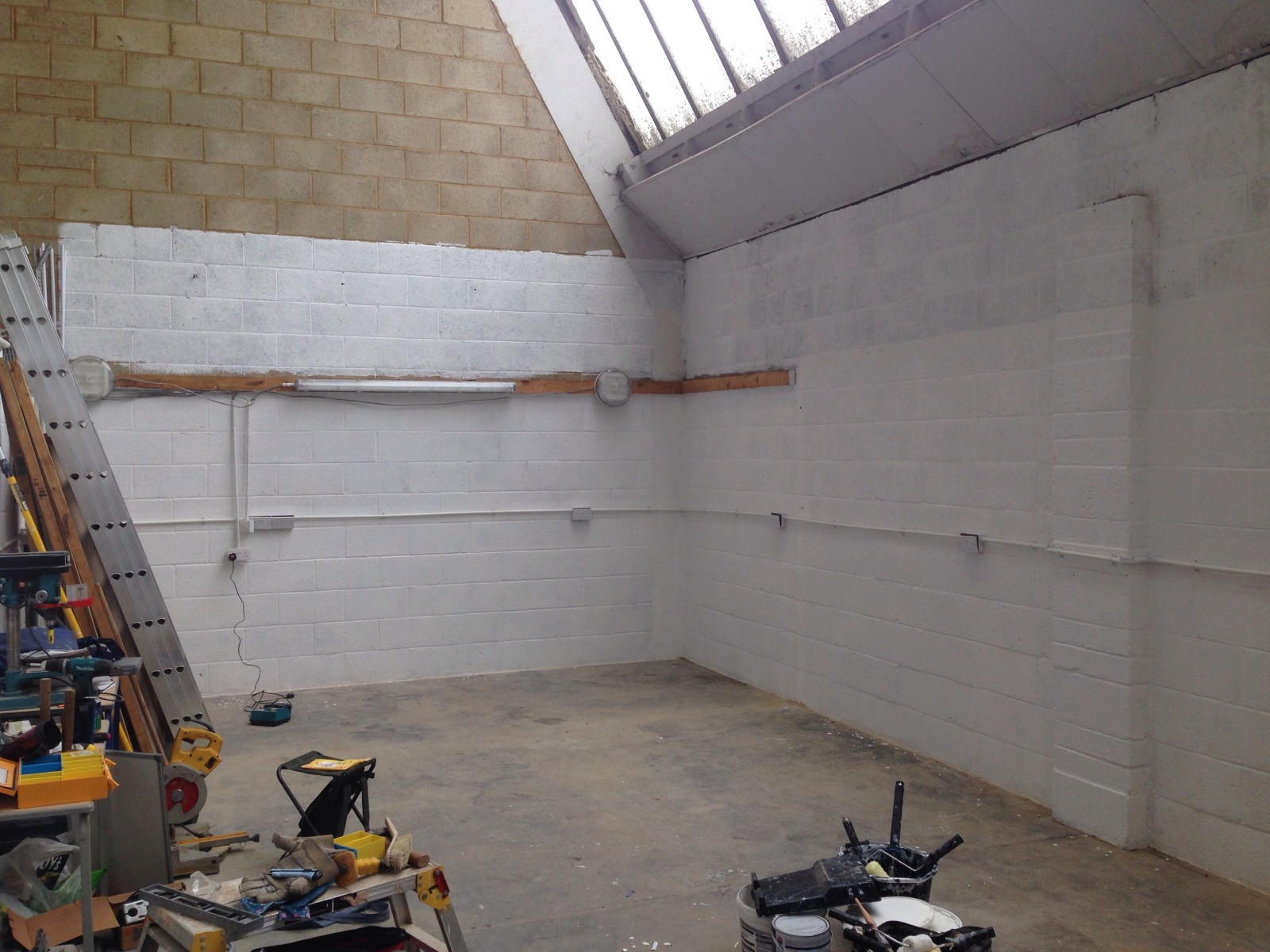 2 coats of paint - main space