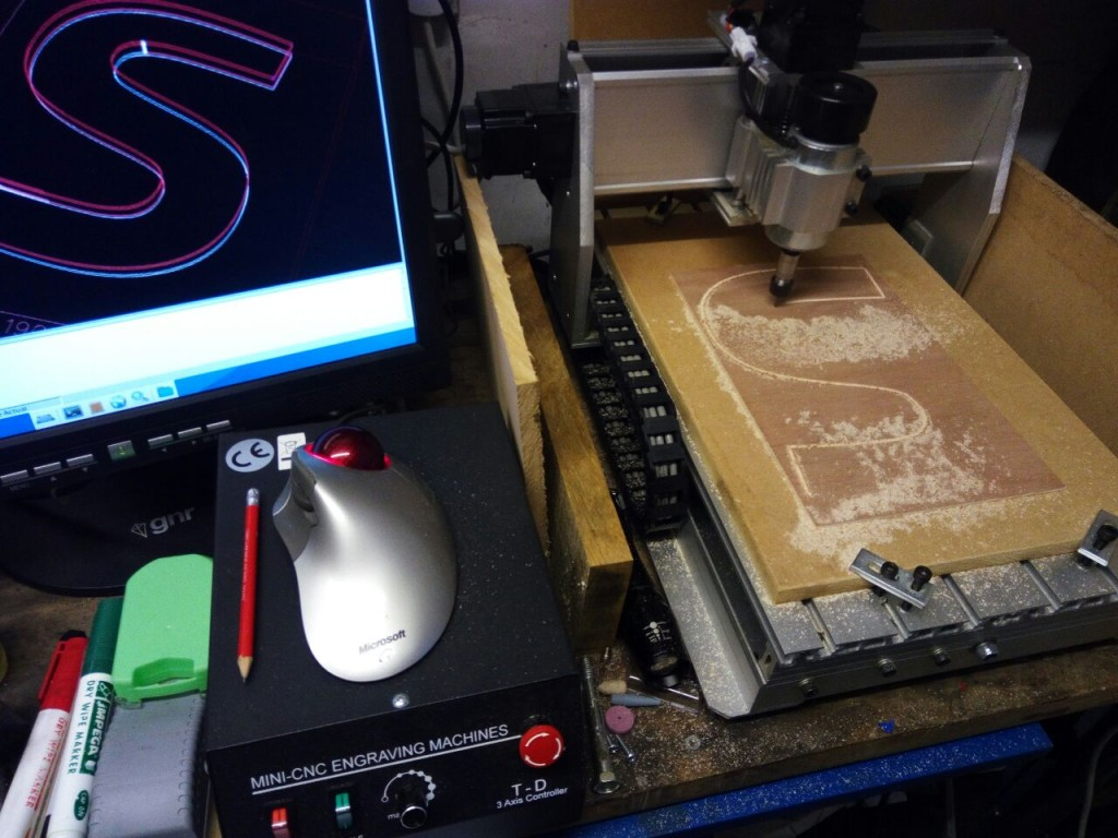 CNC machining of letters