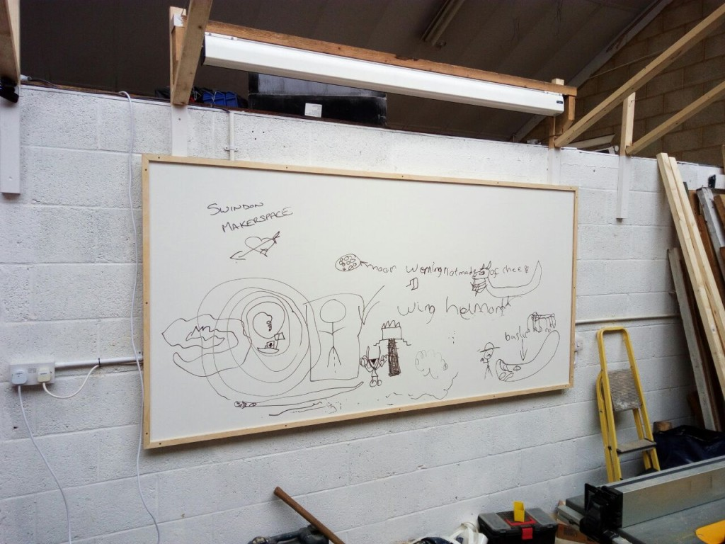 Giant home made whiteboard