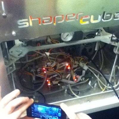 """Shaper cube 3D printer • <a style=""""font-size:0.8em;"""" href=""""http://www.flickr.com/photos/94299919@N02/11400831074/"""" target=""""_blank"""">View on Flickr</a>"""