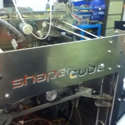 """Shaper cube 3D printer • <a style=""""font-size:0.8em;"""" href=""""http://www.flickr.com/photos/94299919@N02/11400829984/"""" target=""""_blank"""">View on Flickr</a>"""