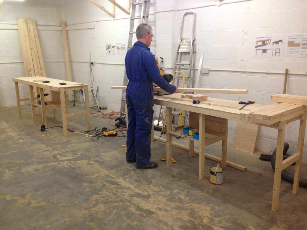 Electrics Done, Bench Construction Underway